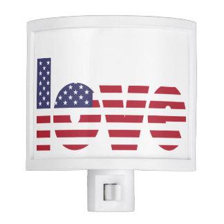 Patriotic Love USA Flag July 4th Holiday Nite Lite