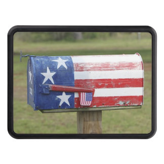 Patriotic Mailbox Trailer Hitch Cover
