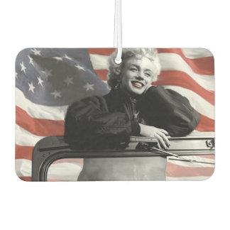 Patriotic Marilyn Car Air Freshener