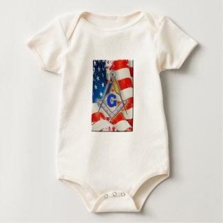 Patriotic Mason Baby Bodysuit