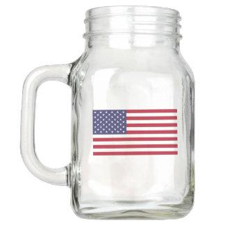 Patriotic Mason Jar with Flag of USA
