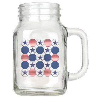 Patriotic Mason jar with handle