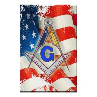 Patriotic Mason Stationery