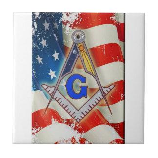 Patriotic Mason Tile