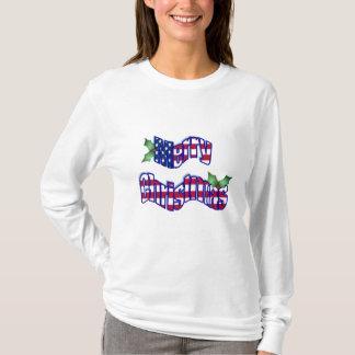 Patriotic Merry Christmas T-Shirt