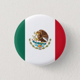 Patriotic Mexican Flag 1 Inch Round Button