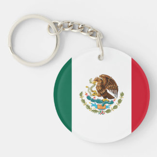 Patriotic Mexican Flag Keychain