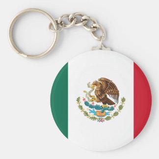 Patriotic Mexican Flag Keychain