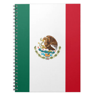 Patriotic Mexican Flag Notebooks