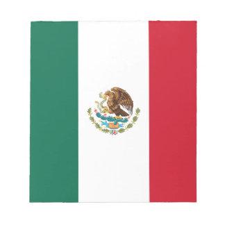 Patriotic Mexican Flag Notepad