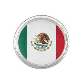 Patriotic Mexican Flag Ring