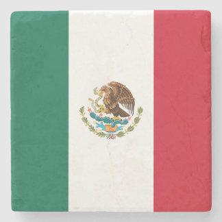 Patriotic Mexican Flag Stone Coaster