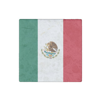 Patriotic Mexican Flag Stone Magnets