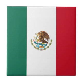 Patriotic Mexican Flag Tile