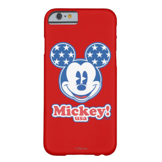 Patriotic Mickey Mouse Stars Barely There iPhone 6 Case