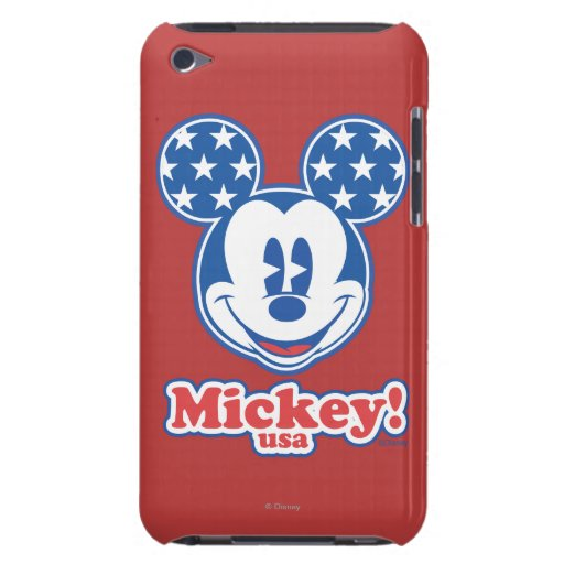 Patriotic Mickey Mouse Stars Barely There iPod Cover