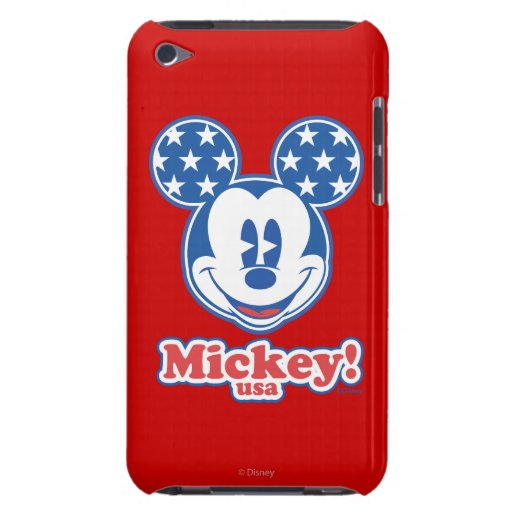 Patriotic Mickey Mouse Stars iPod Case-Mate Case