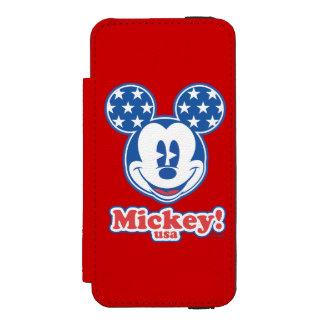 Patriotic Mickey Mouse Stars Incipio Watson™ iPhone 5 Wallet Case
