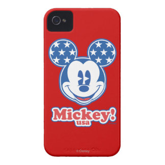 Patriotic Mickey Mouse Stars iPhone 4 Case-Mate Cases