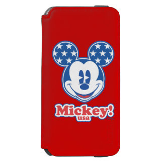 Patriotic Mickey Mouse Stars Incipio Watson™ iPhone 6 Wallet Case