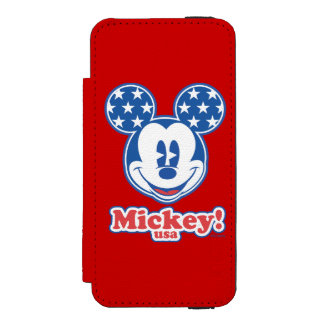 Patriotic Mickey Mouse Stars Incipio Watson™ iPhone 5 Wallet Case