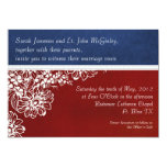 """Patriotic Military Red White and Blue Wedding 5"""" X 7"""" Invitation Card"""