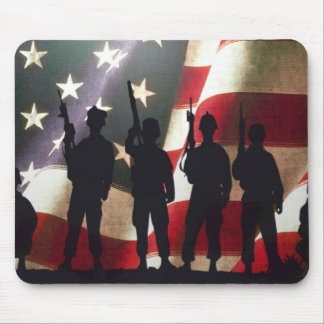 Patriotic Military Soldier Silhouette Mouse Pad