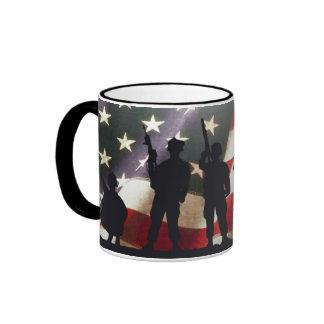 Patriotic Military Soldier Silhouettes Mug