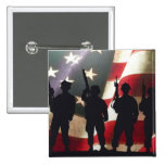 Patriotic Military Soldier Silhouettes Pin