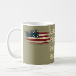 Patriotic Military US Flag. Land of the Free Coffee Mug