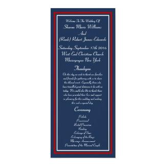 Patriotic Military Wedding Programs