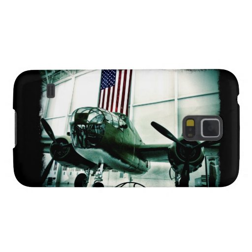 Patriotic Military WWII Plane with American Flag Galaxy Nexus Case