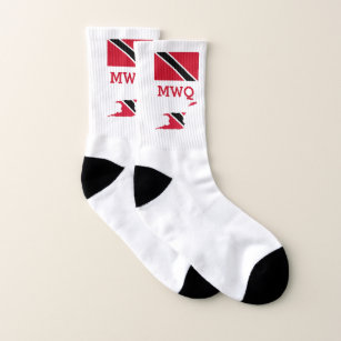 Patriotic   Monogrammed   TRINIDAD FLAG Socks