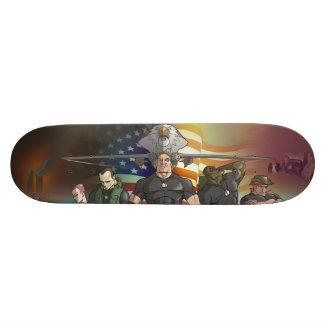 Patriotic Mural Skateboard