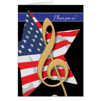 Patriotic Music Invitation