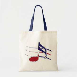 Patriotic Music Note Tote Bag