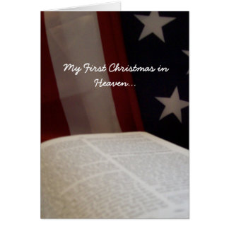 Patriotic My First Christmas in Heaven Card