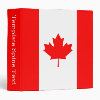 Patriotic National Flag of CANADA Binder