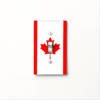 Patriotic National Flag of CANADA Light Switch Cover