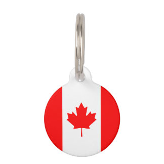 Patriotic National Flag of CANADA Pet ID Tag