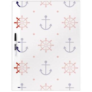 Patriotic Nautical Pattern Dry-Erase Boards