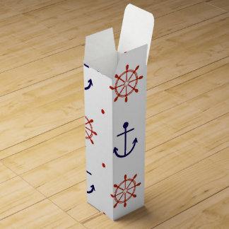 Patriotic Nautical Pattern Wine Box