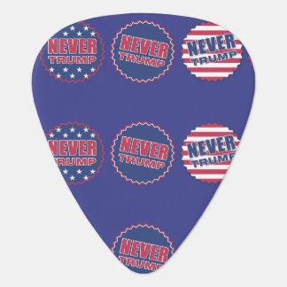 "Patriotic ""Never Trump"" American Flag Guitar Guitar Pick"