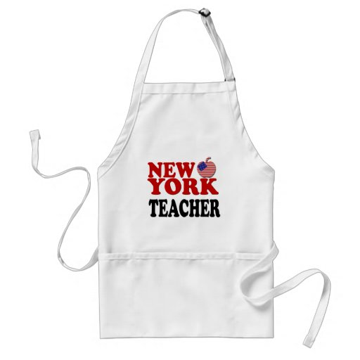 Patriotic New York Teacher Apron