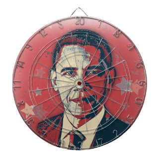 Patriotic Obama Pop Art Dart Board