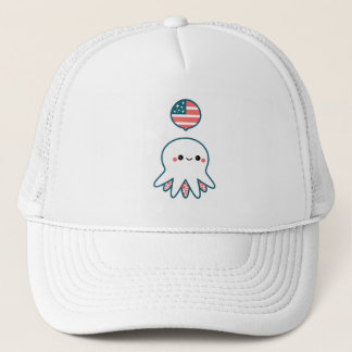 Patriotic Octopus Trucker Hat