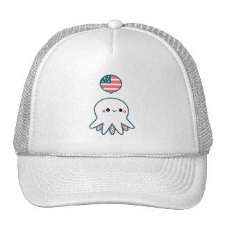 Patriotic Octopus Trucker Hat