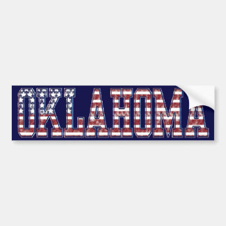PATRIOTIC OKLAHOMA BUMPER STICKER