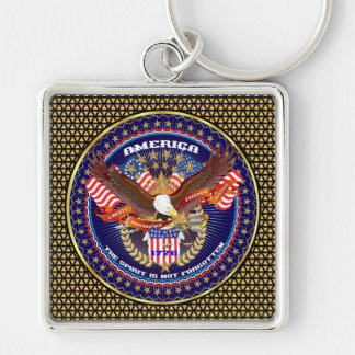 Patriotic or Veteran Pick one View Artist Comments Silver-Colored Square Keychain