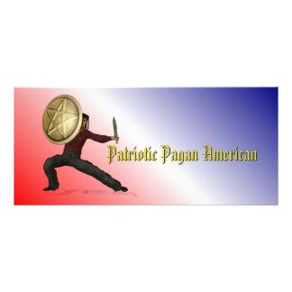 Patriotic Pagan American Rack Cards